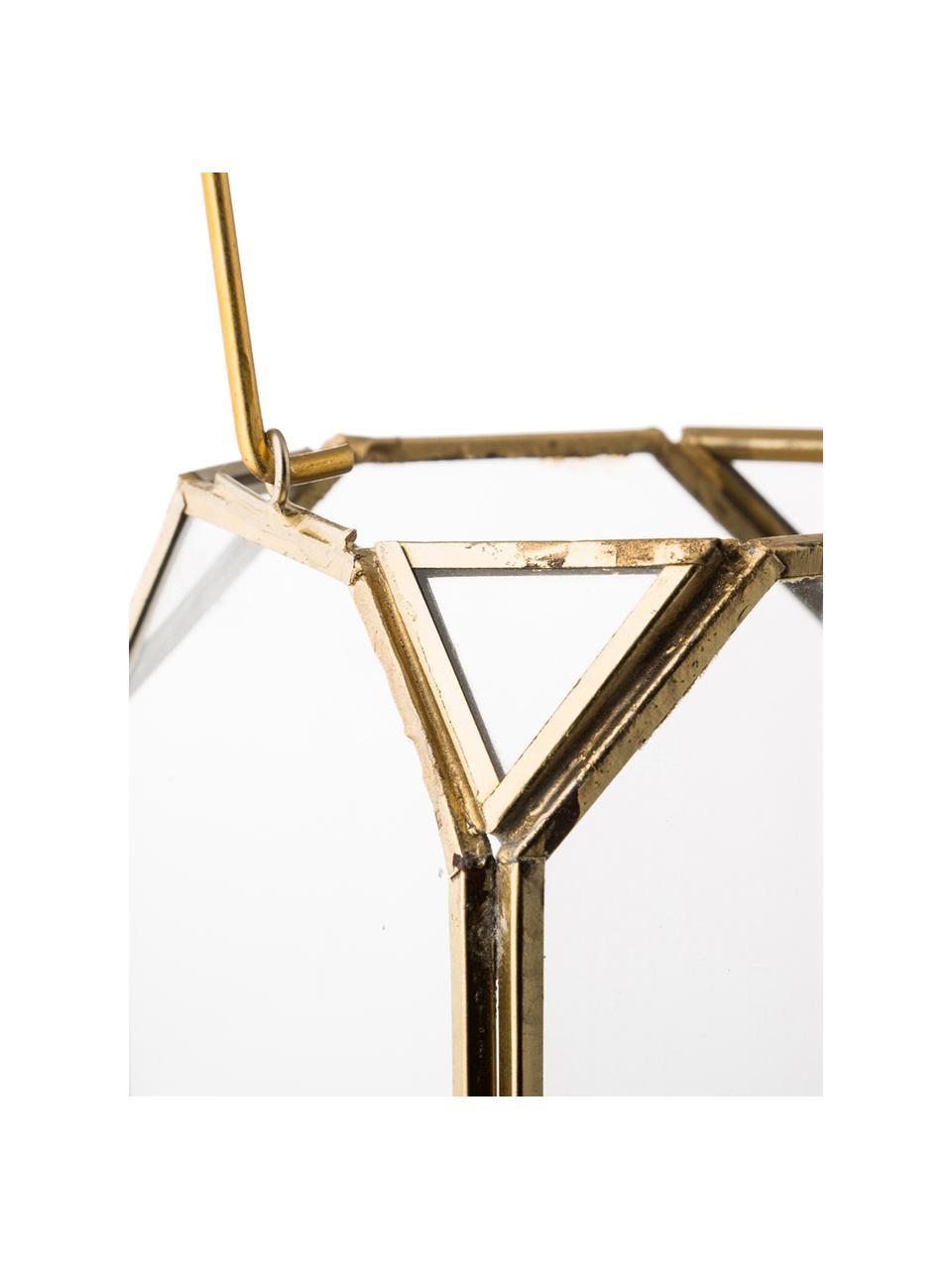 Latarenka Ginny, Stelaż: metal powlekany, Odcienie mosiądzu, S 11 x W 15 cm