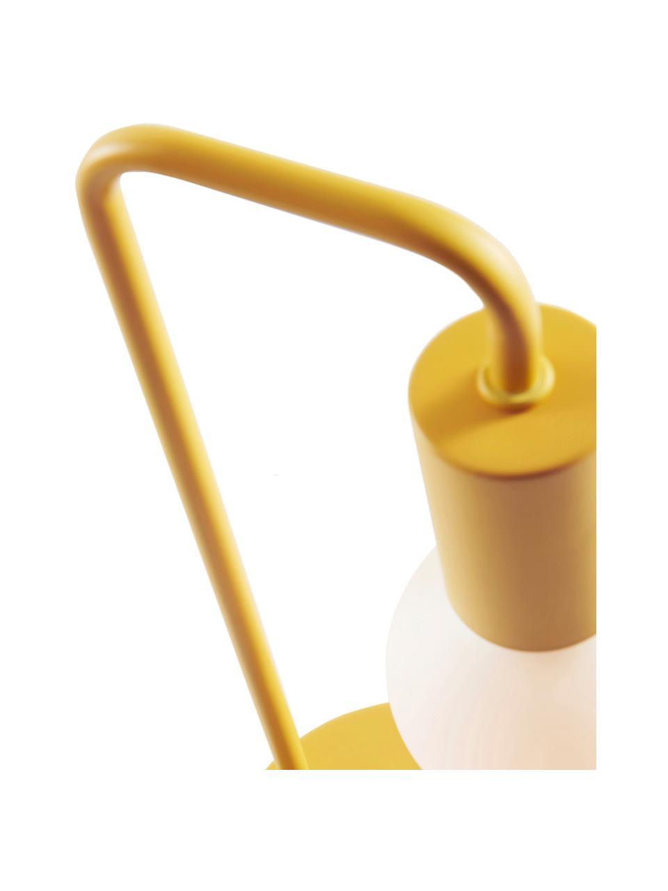 Tischleuchte Cascais, Lampenschirm: Metall, beschichtet, Gelb, Ø 14 x H 35 cm