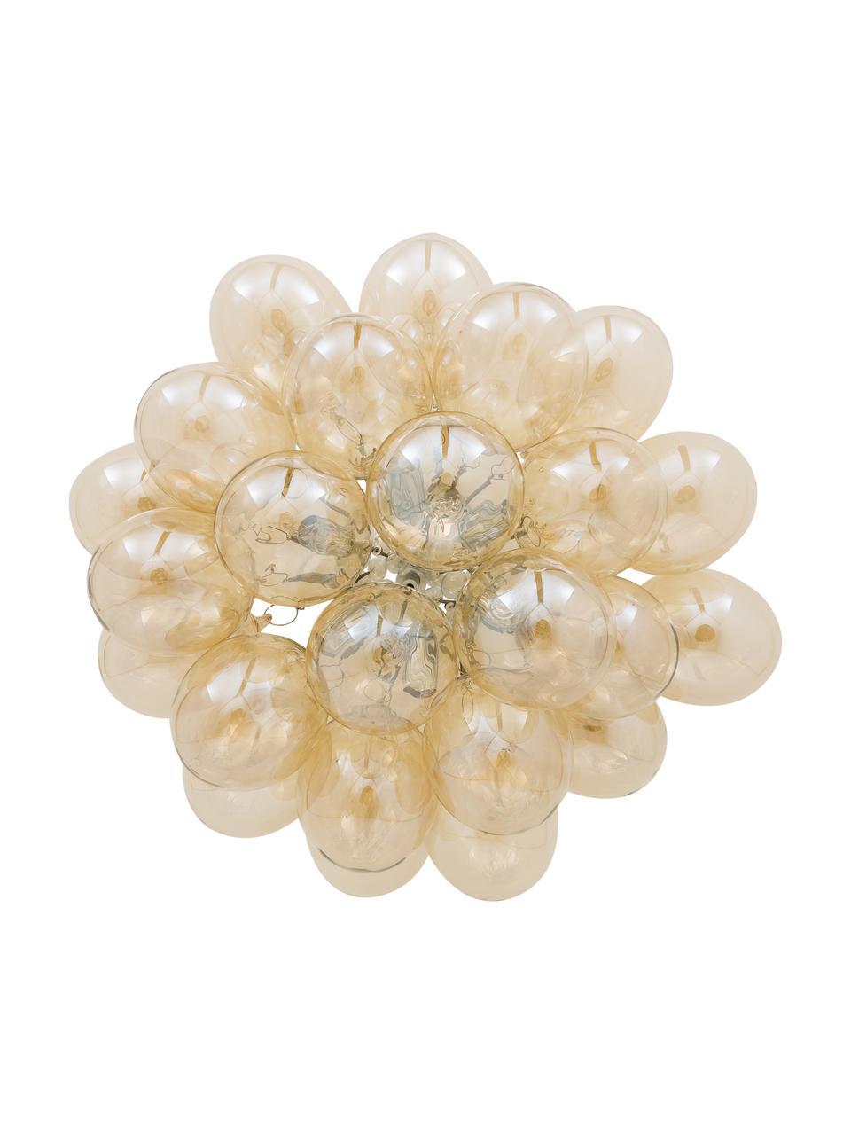 Lampa sufitowa ze szklanymi kulami Gross, Odcienie bursztynowego, Ø 50 x W 27 cm