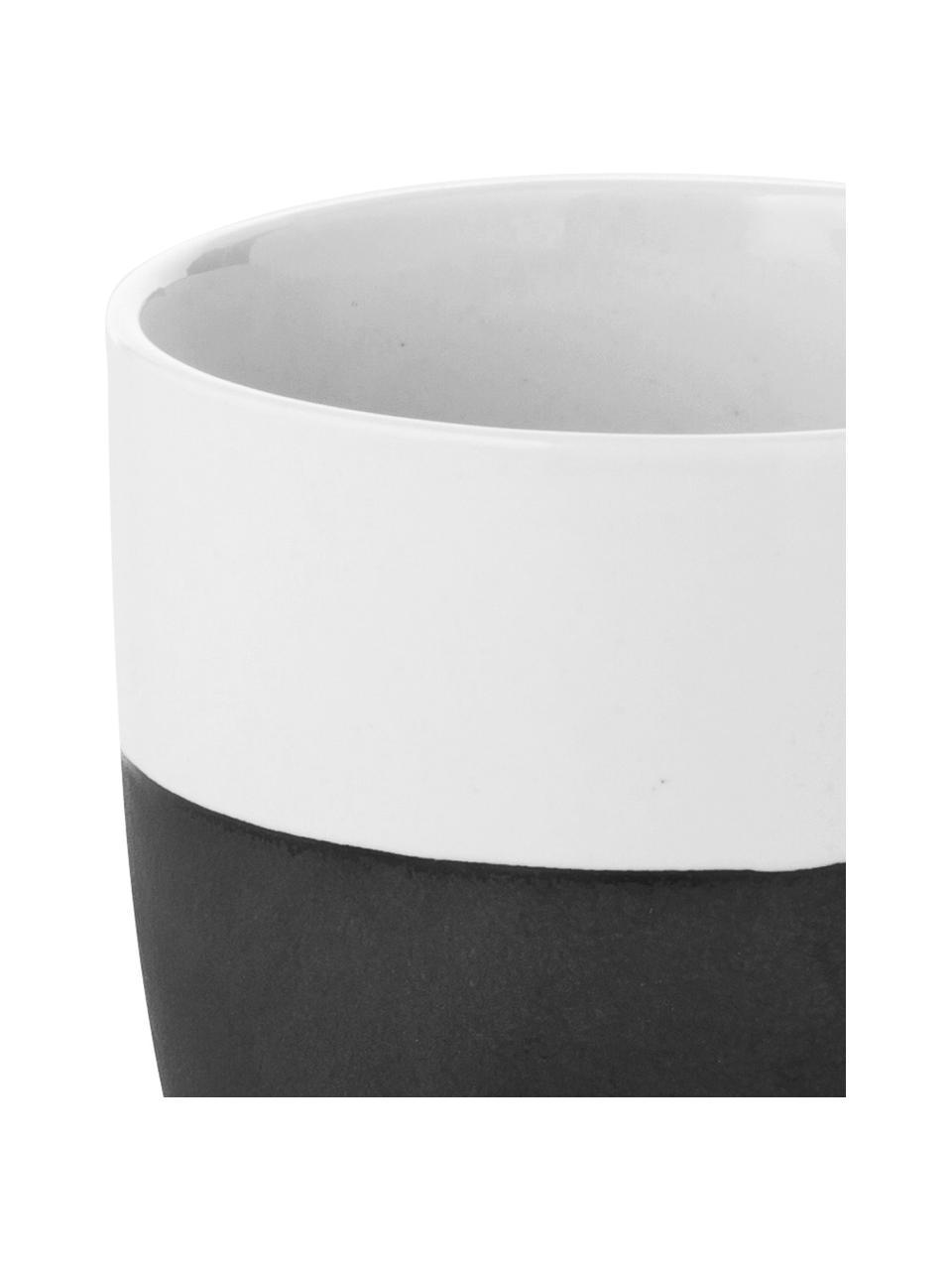 Ręcznie wykonany kubek Esrum, 4 szt., Odcienie kości słoniowej, szarobrązowy, Ø 8 x W 10 cm