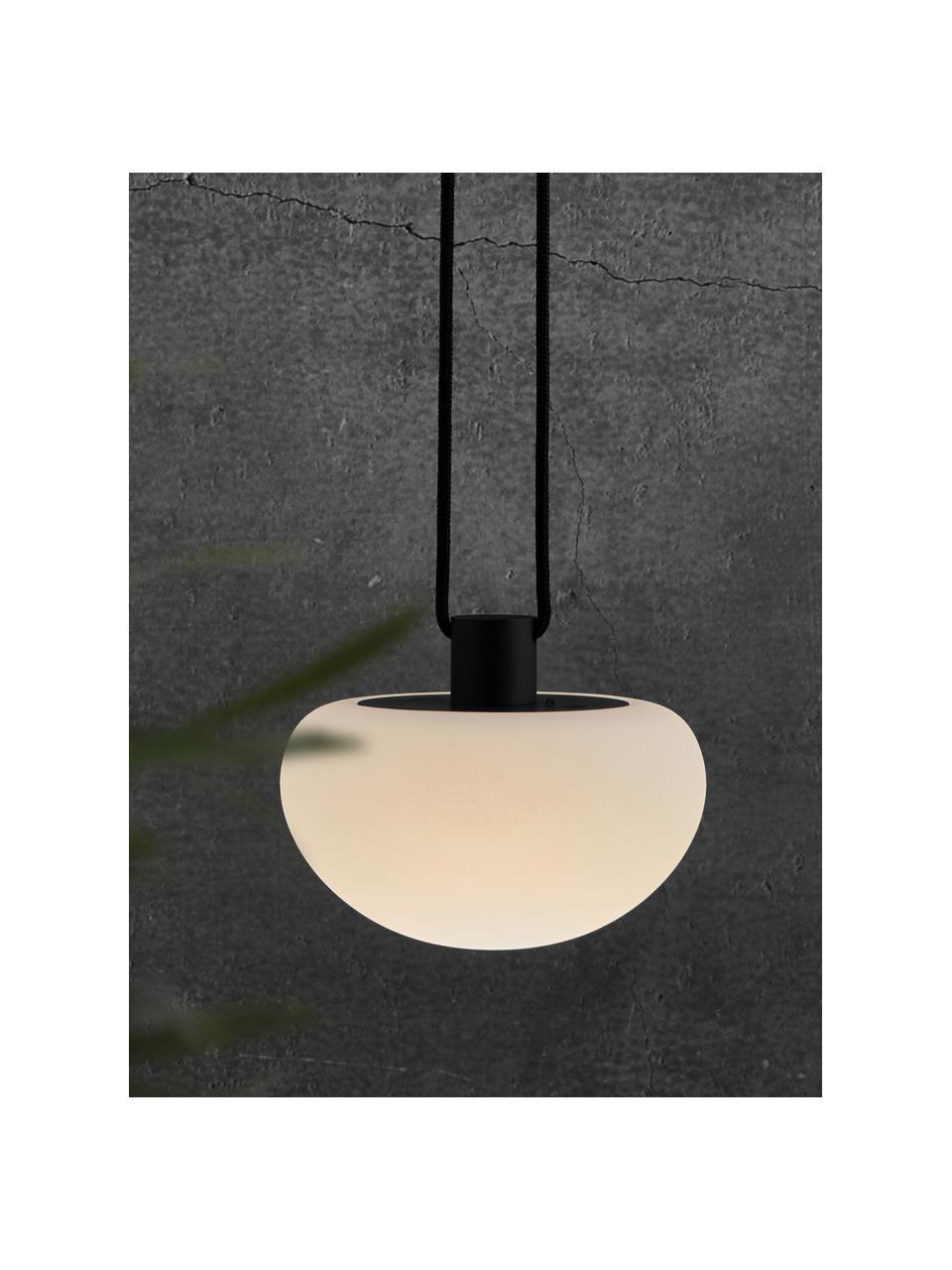 Mobila lampa wisząca z funkcją przyciemniania Sponge, Biały, czarny, Ø 20 x W 16 cm