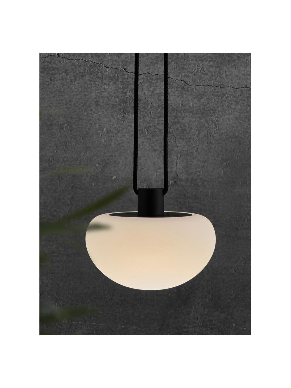 Mobile Dimmbare Hängelampe Sponge, Lampenschirm: Kunststoff, Weiß, Schwarz, Ø 20 x H 16 cm
