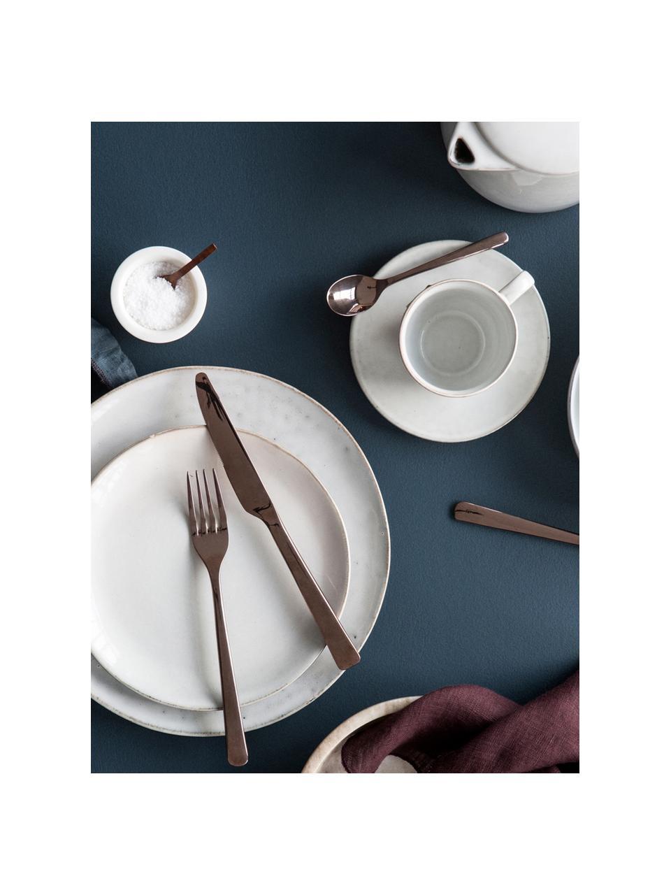Set da colazione fatto a mano Nordic Sand 12 pz, Gres, Beige, Set in varie misure