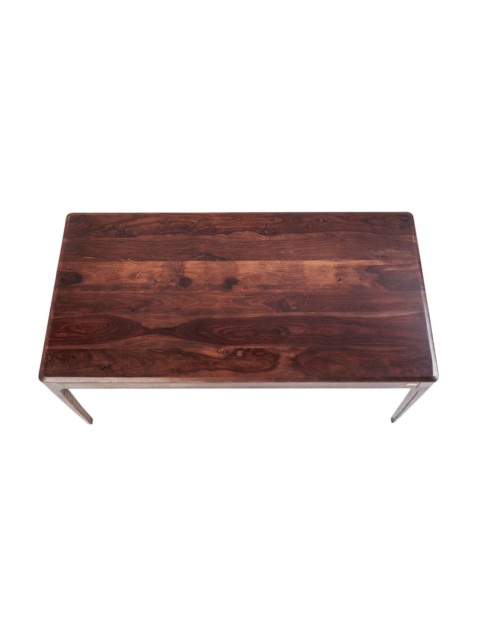 Table en bois massif Brooklyn, Couleur noisette