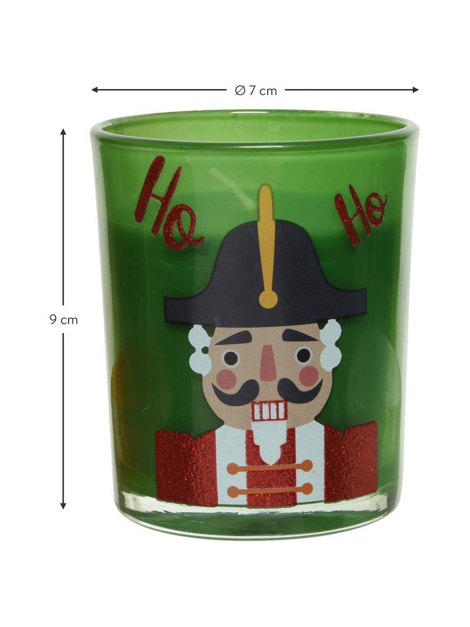 Ensemble de bougies Nutcracker (ensemble de 3élém.), Rouge, blanc, vert
