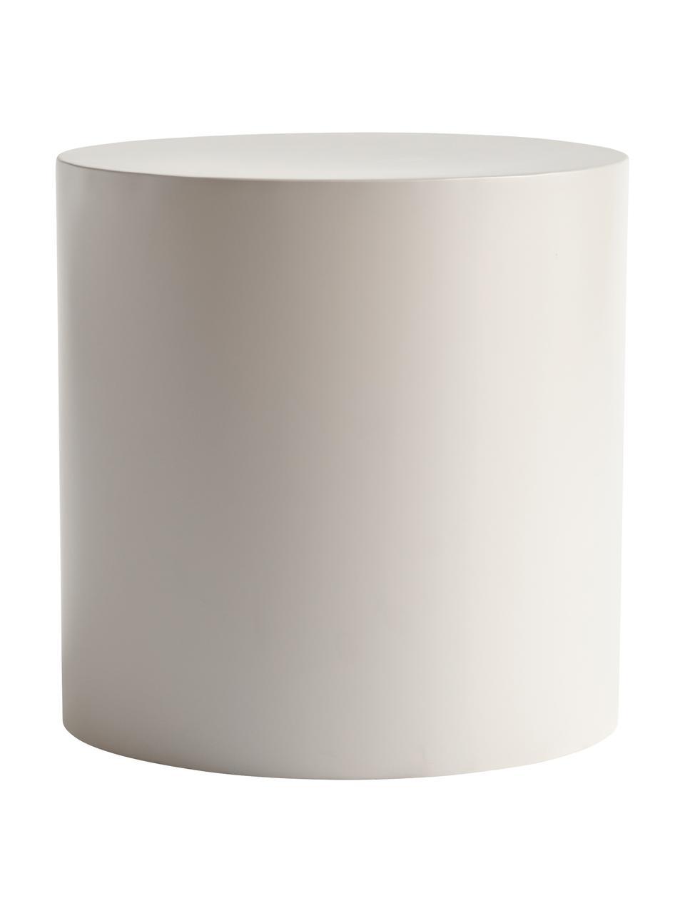 Tavolino rotondo in metallo grigio chiaro Metdrum, Metallo, Grigio chiaro, Ø 40 x Alt. 40 cm