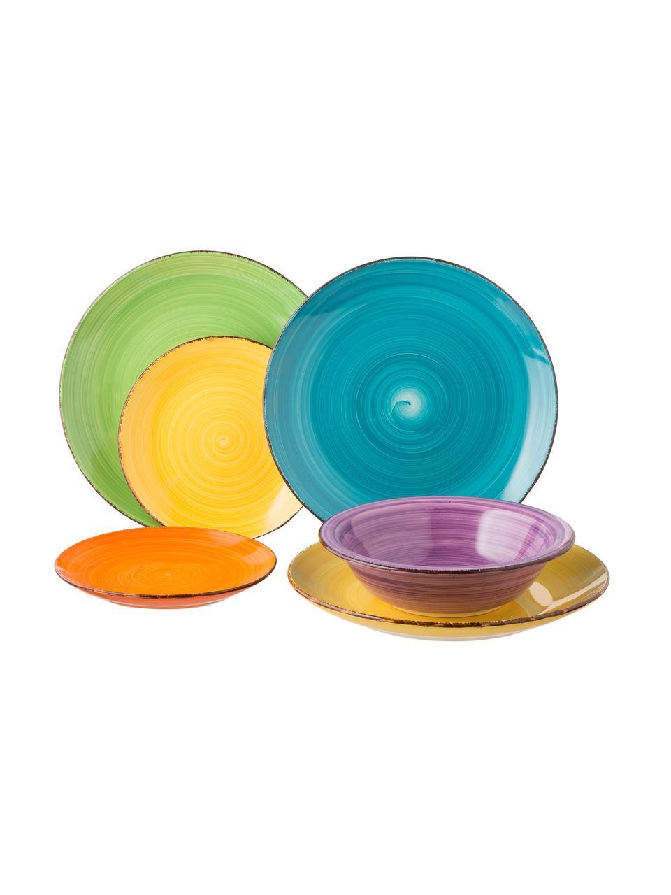 Service de table multicolore Baita, 6personnes (18élém.), Multicolore