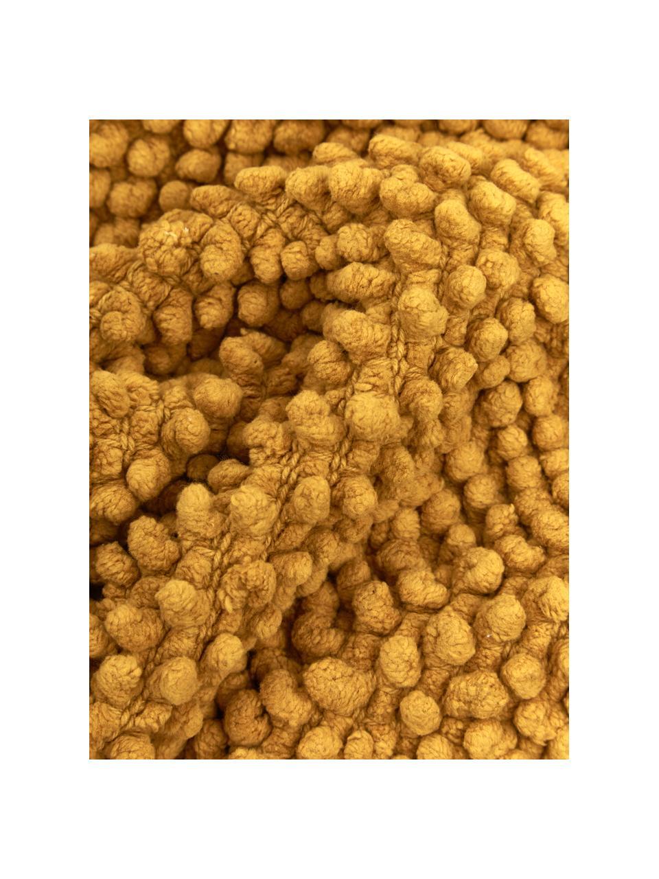 Kissenhülle Indi mit strukturierter Oberfläche in Senfgelb, 100% Baumwolle, Gelb, 30 x 50 cm