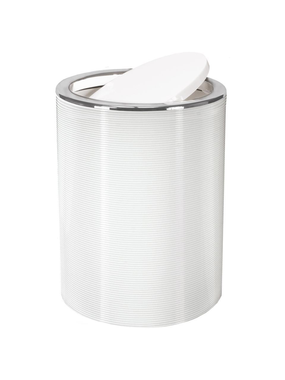 Kosz na śmieci Trace, Tworzywo sztuczne, Biały, Ø 19 x W 25 cm