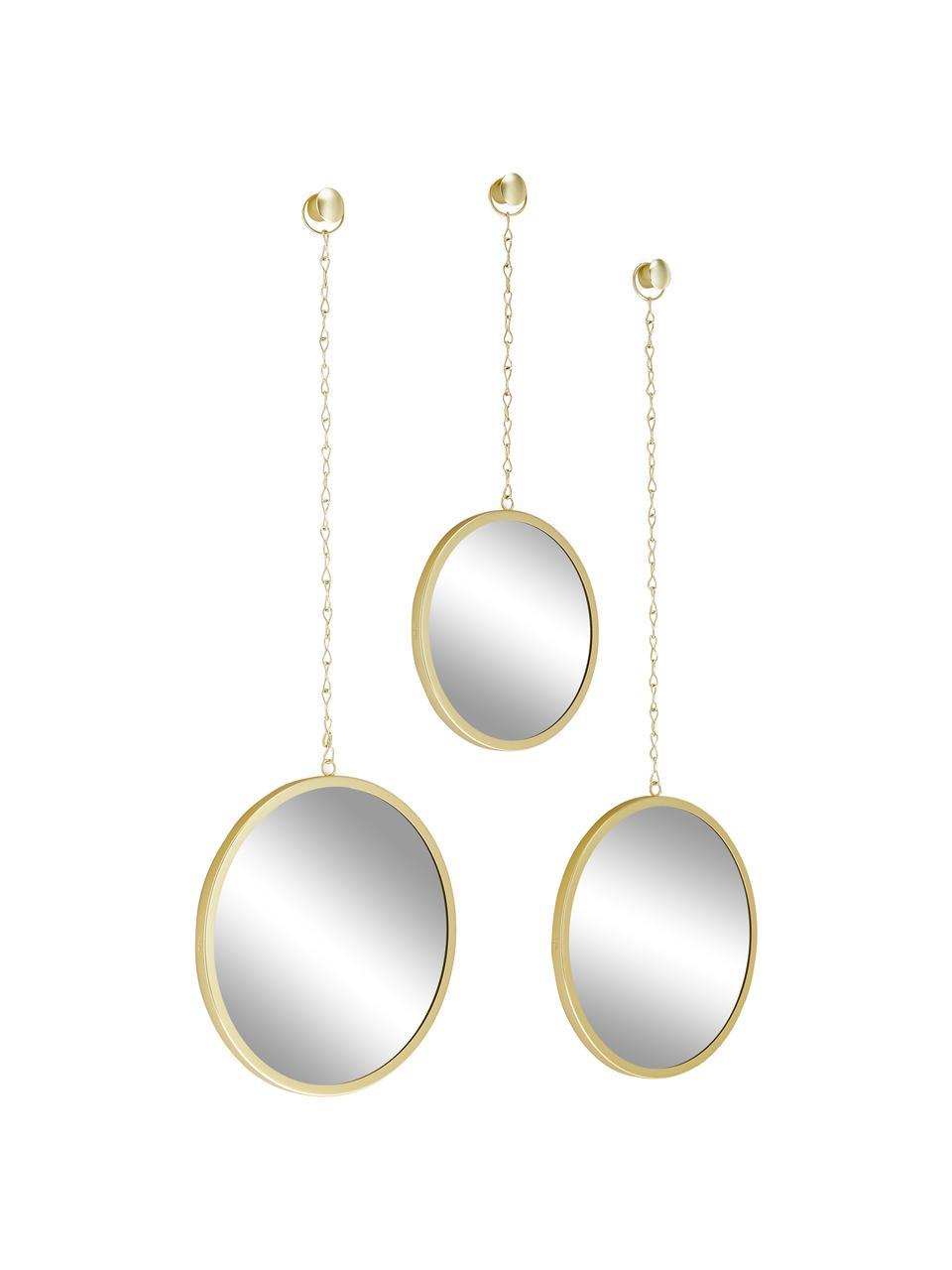 Komplet luster ściennych Dima, 3 elem., Odcienie złotego, Komplet z różnymi rozmiarami