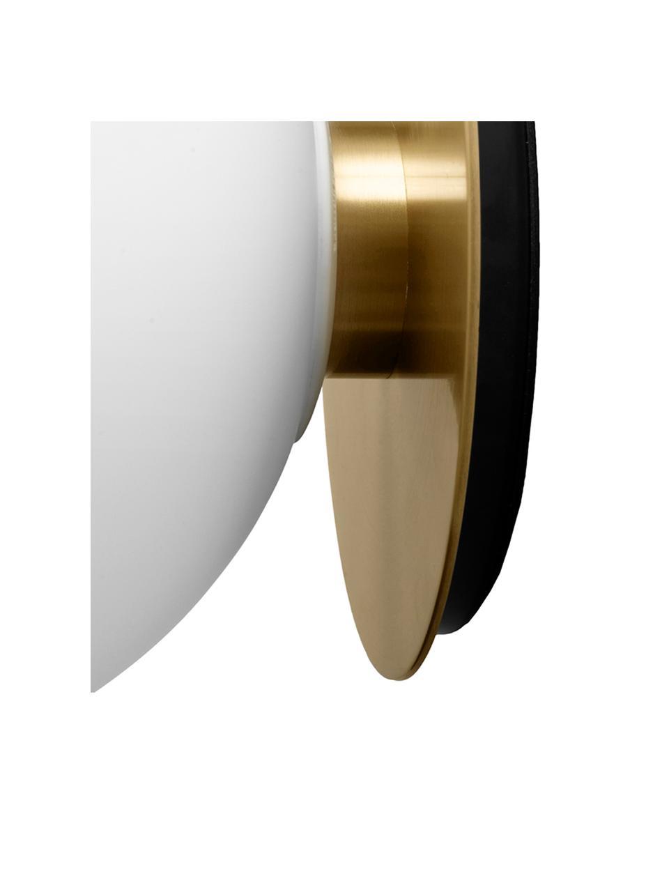 LED-Wand- und Deckenleuchte TR Bulb, Lampenschirm: Opalglas, Messingfarben, Ø 20 x T 22 cm