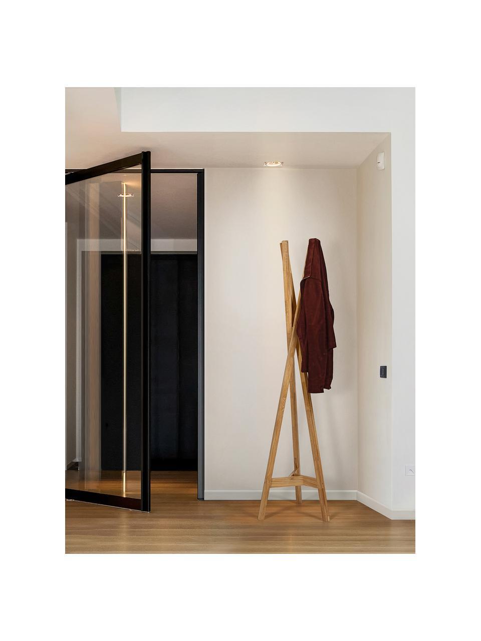 Wieszak stojący z drewna dębowego Clift, Lite drewno dębowe, Drewno dębowe, S 35 x W 175 cm