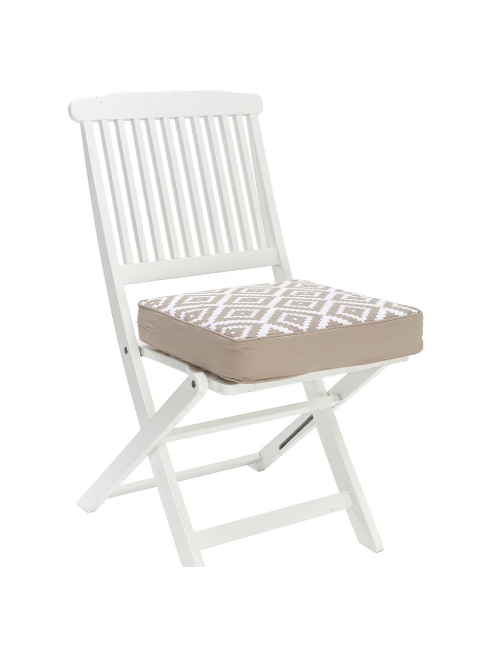 Wysoka poduszka na krzesło Miami, Beżowy, S 40 x D 40 cm