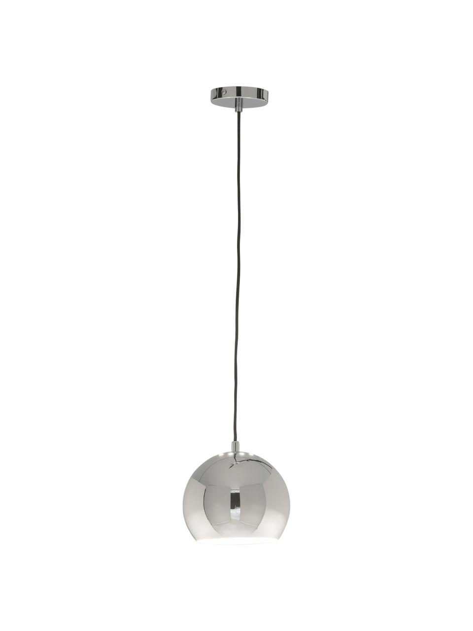 Mała lampa wisząca Ball, Metal chromowany, Metalowy, chrom, Ø 18 cm x W 16 cm