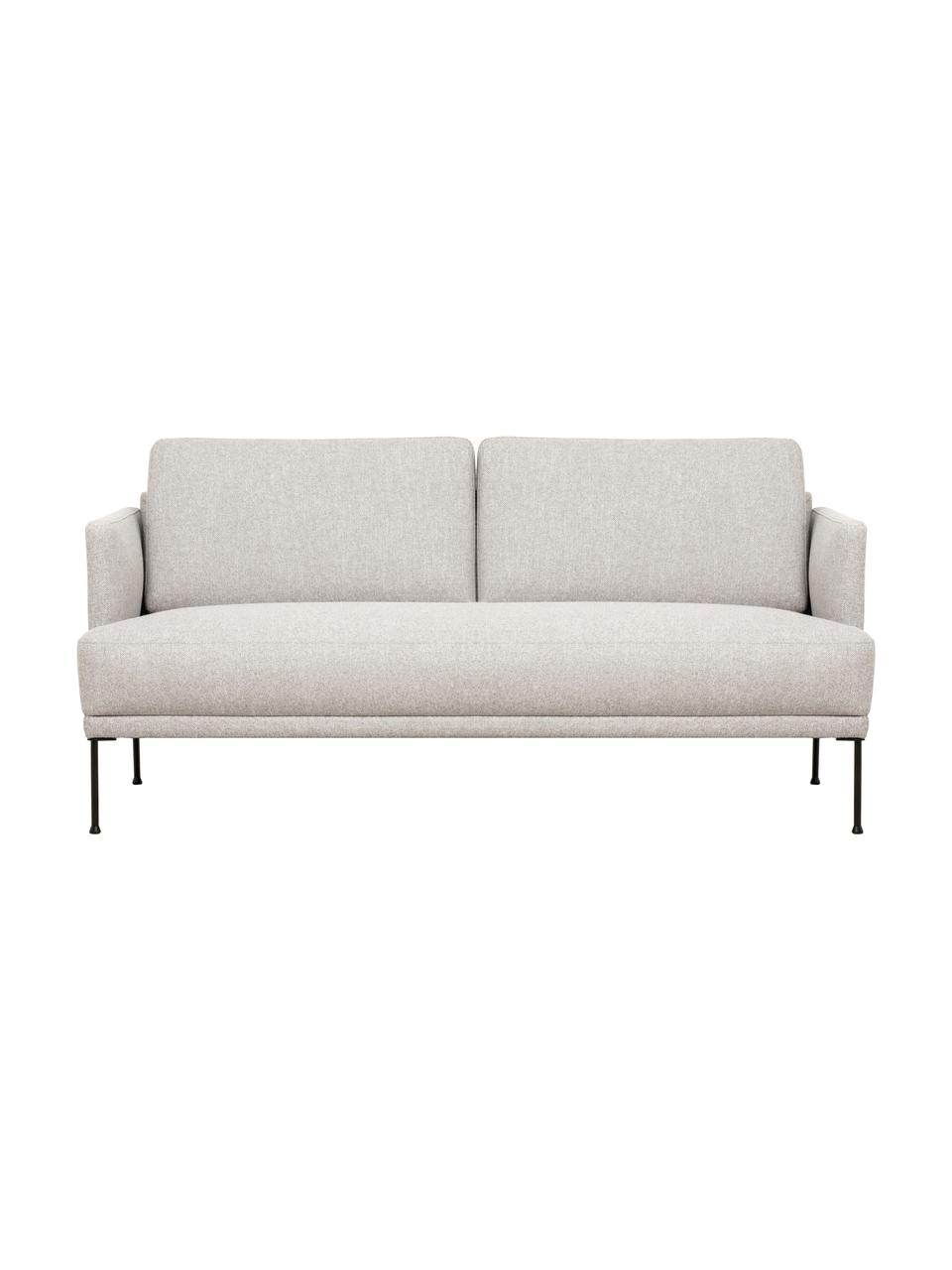 Sofa z metalowymi nogami Fluente (2-osobowa), Tapicerka: 80% poliester, 20% ramia , Nogi: metal malowany proszkowo, Beżowy, S 166 x G 85 cm