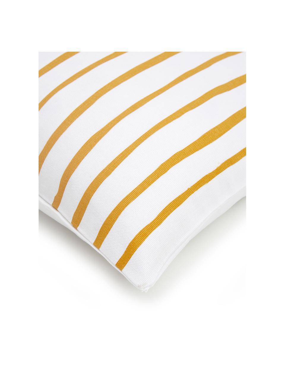 Federa arredo a righe gialla/bianca Ola, 100% cotone, Giallo, bianco, Larg. 40 x Lung. 40 cm