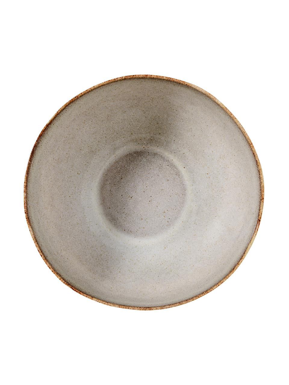 Handgemaakte kommen Sandrine in beige, 6 stuks, Keramiek, Lichtgrijs, Ø 15 x H 8 cm