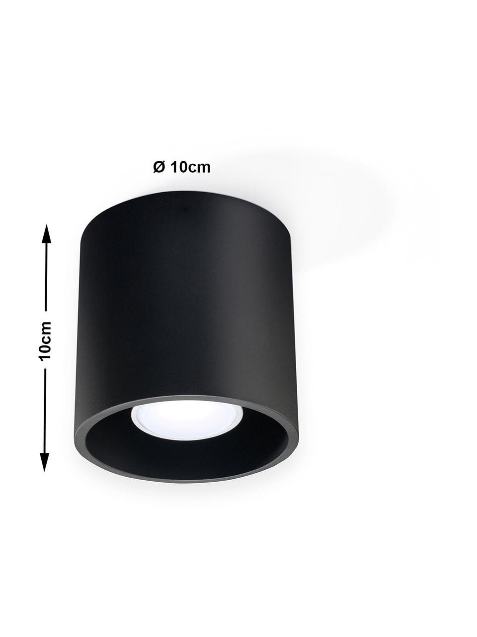 Deckenspot Roda in Schwarz, Schwarz, Ø 10 x H 10 cm