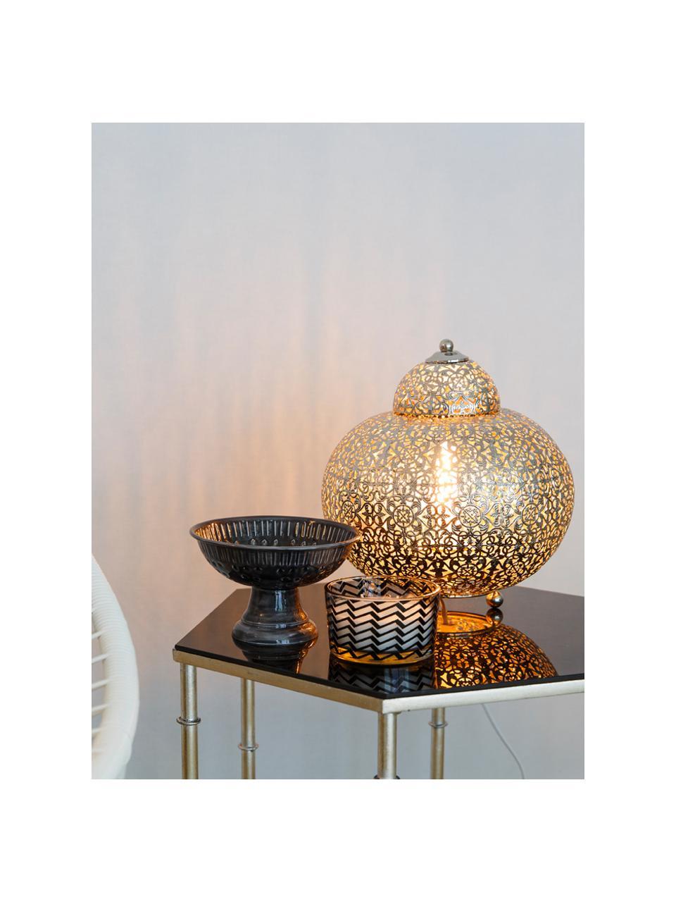 Lampe à poser orientale Marocco, Nickel
