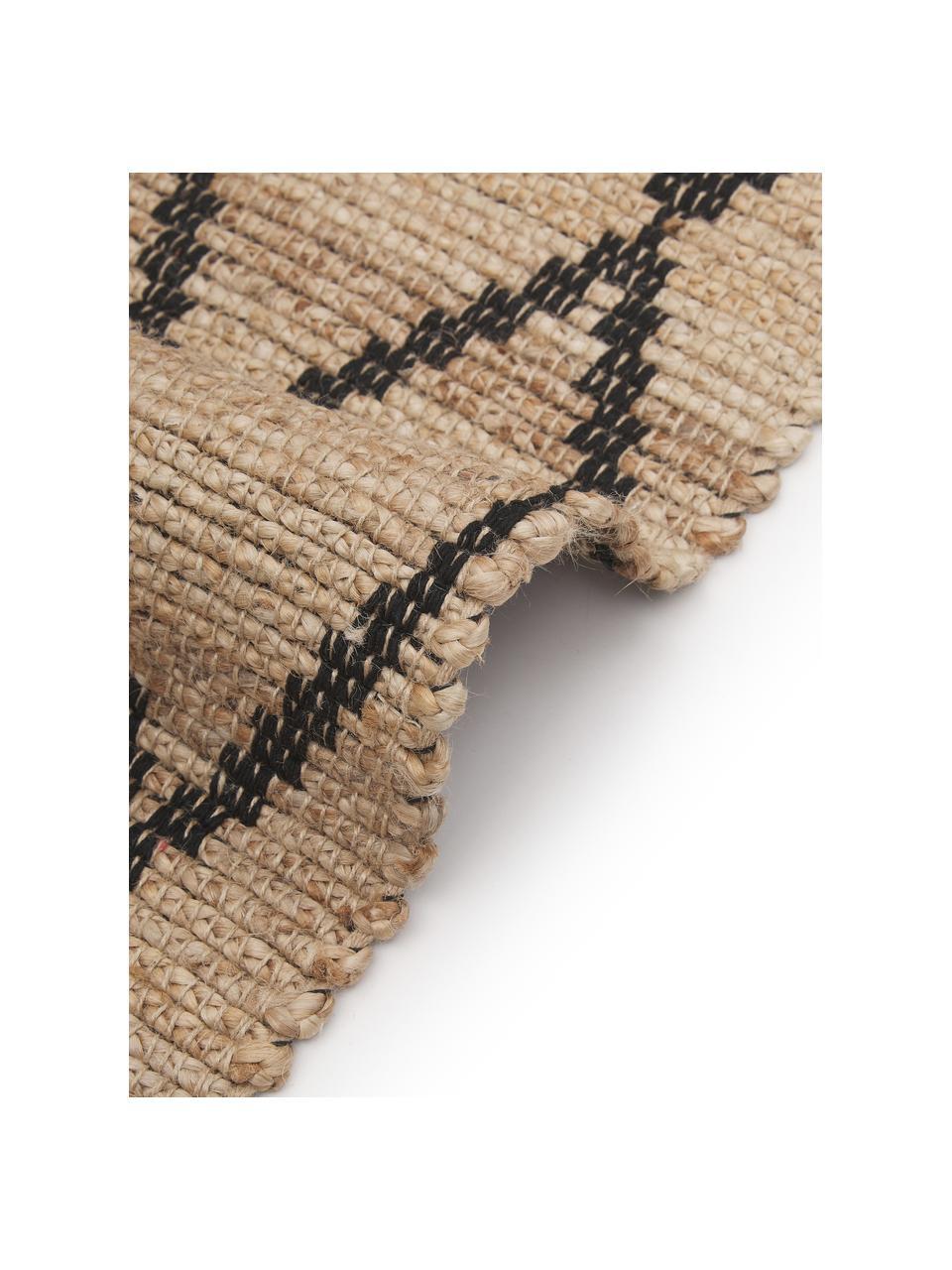 Handgemaakt juten vloerkleed Atta, 100% jute, Beige, B 200 x L 300 cm (maat L)