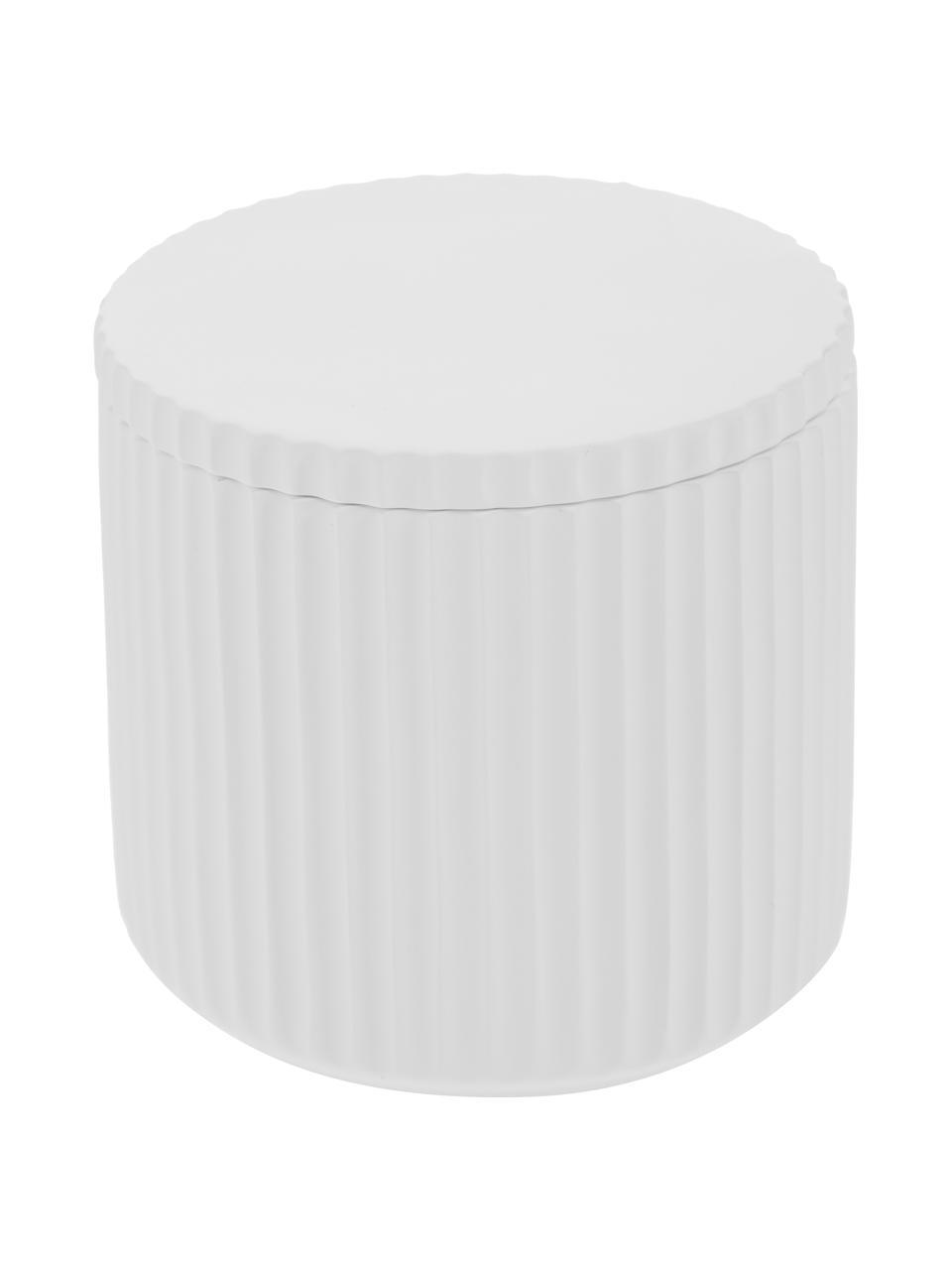 Aufbewahrungsdose Alessia, Porzellan, Weiß, Ø 9 x H 9 cm