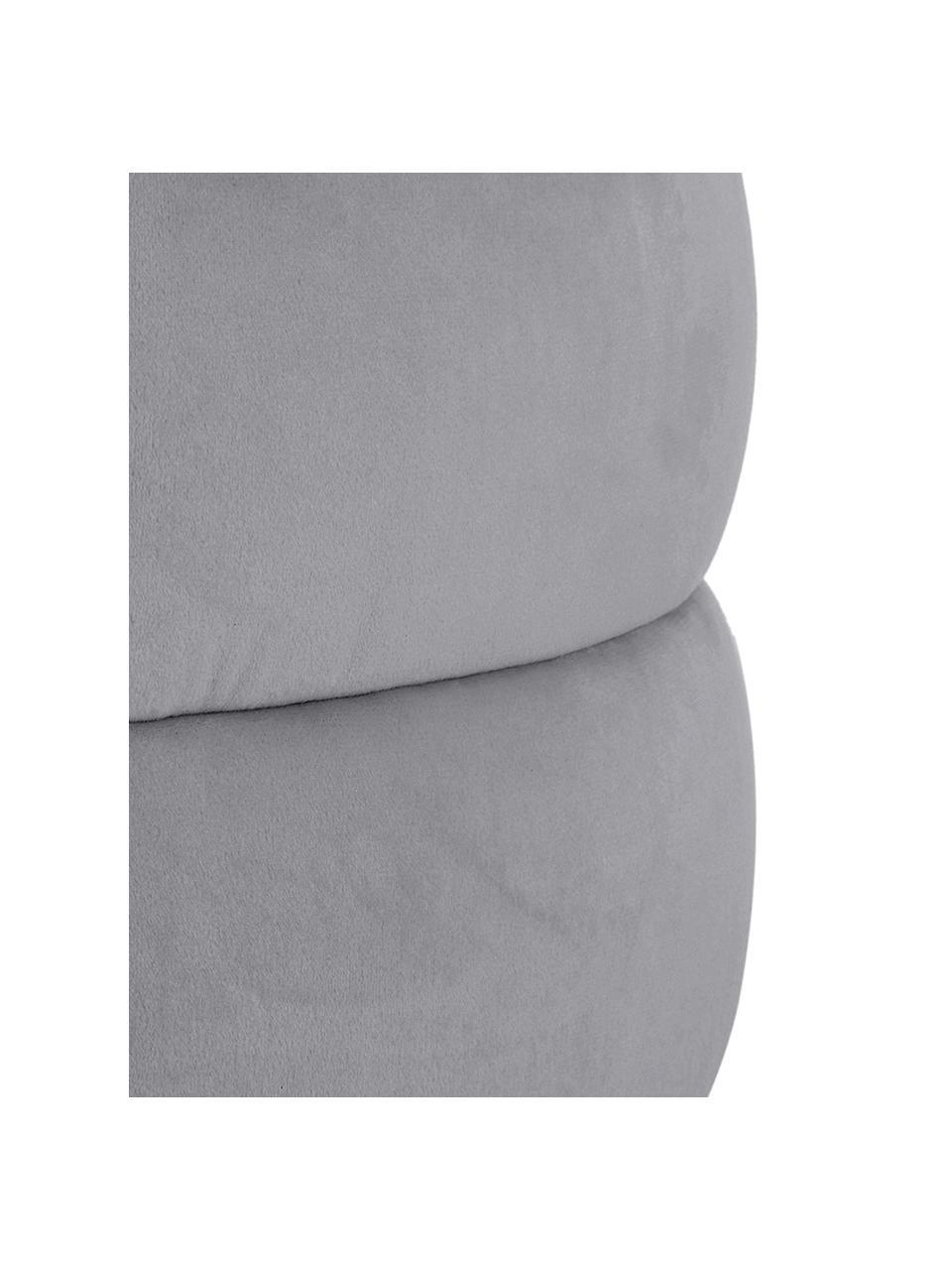 Samt-Hocker Alto in Grau, Bezug: Samt (100% Polyester) Der, Gestell: Massives Kiefernholz, Spe, Samt Grau, Ø 42 x H 47 cm