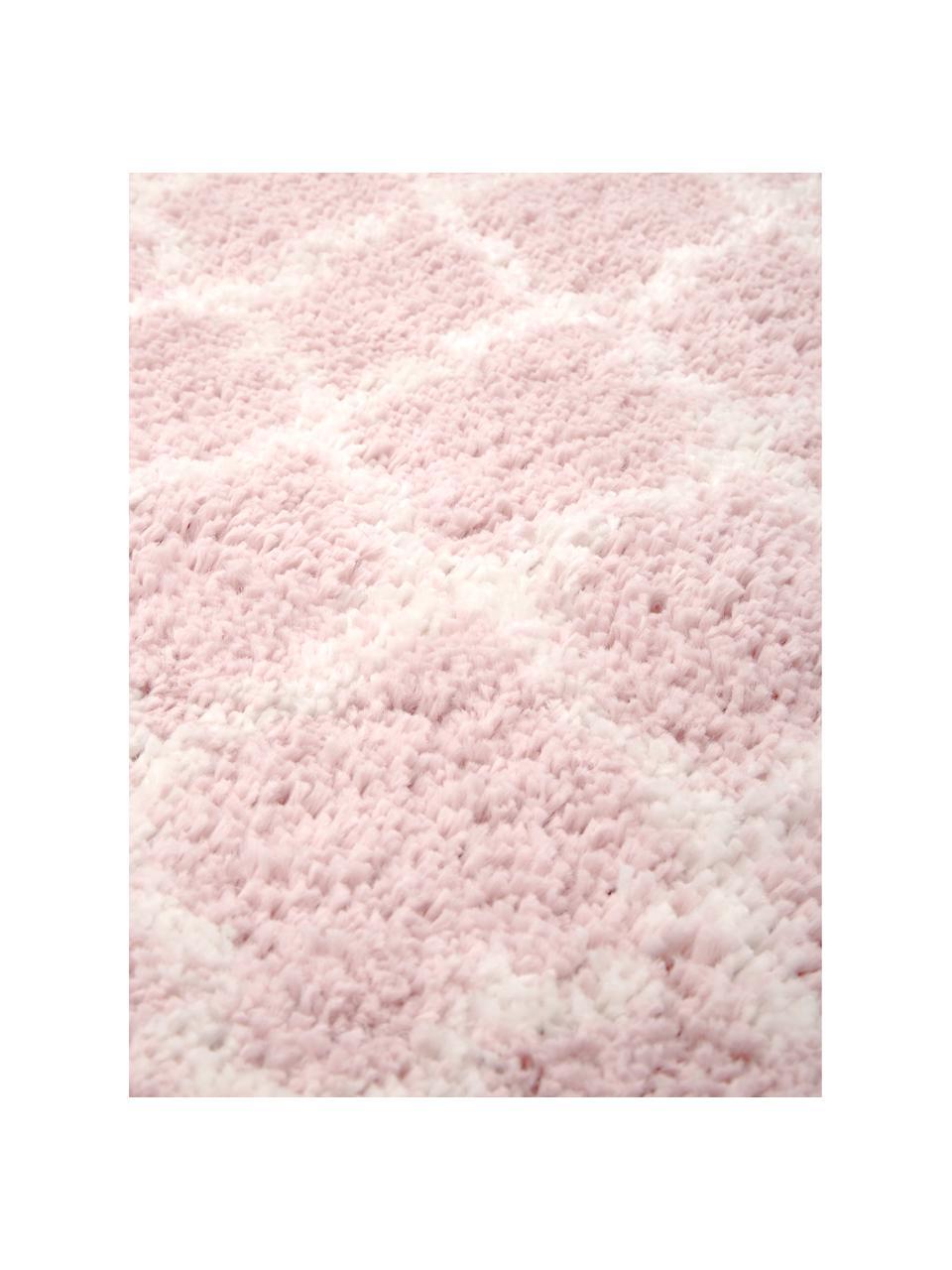 Hochflor-Teppich Mona in Altrosa/Creme, Flor: 100% Polypropylen, Altrosa, Cremeweiß, B 300 x L 400 cm (Größe XL)