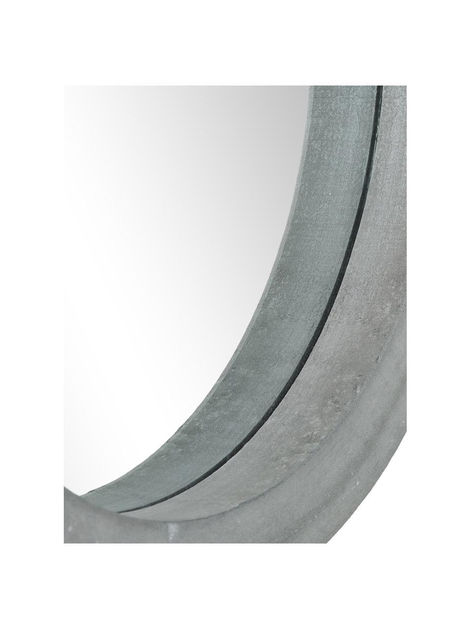 Rundes Wandspiegel-Set Brest mit grauen Holzahmen, 3-tlg., Rahmen: Mitteldichte Holzfaserpla, Front: Spiegelglas, Grau, Set mit verschiedenen Größen