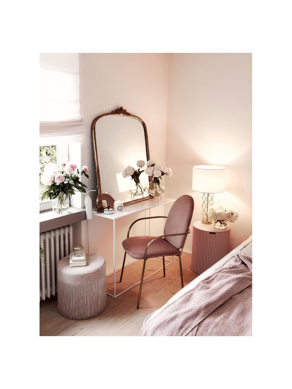 Duża lampa stołowa Adelaide, Klosz: kremowy Podstawa lampy: odcienie złotego, Ø 35 x W 62 cm