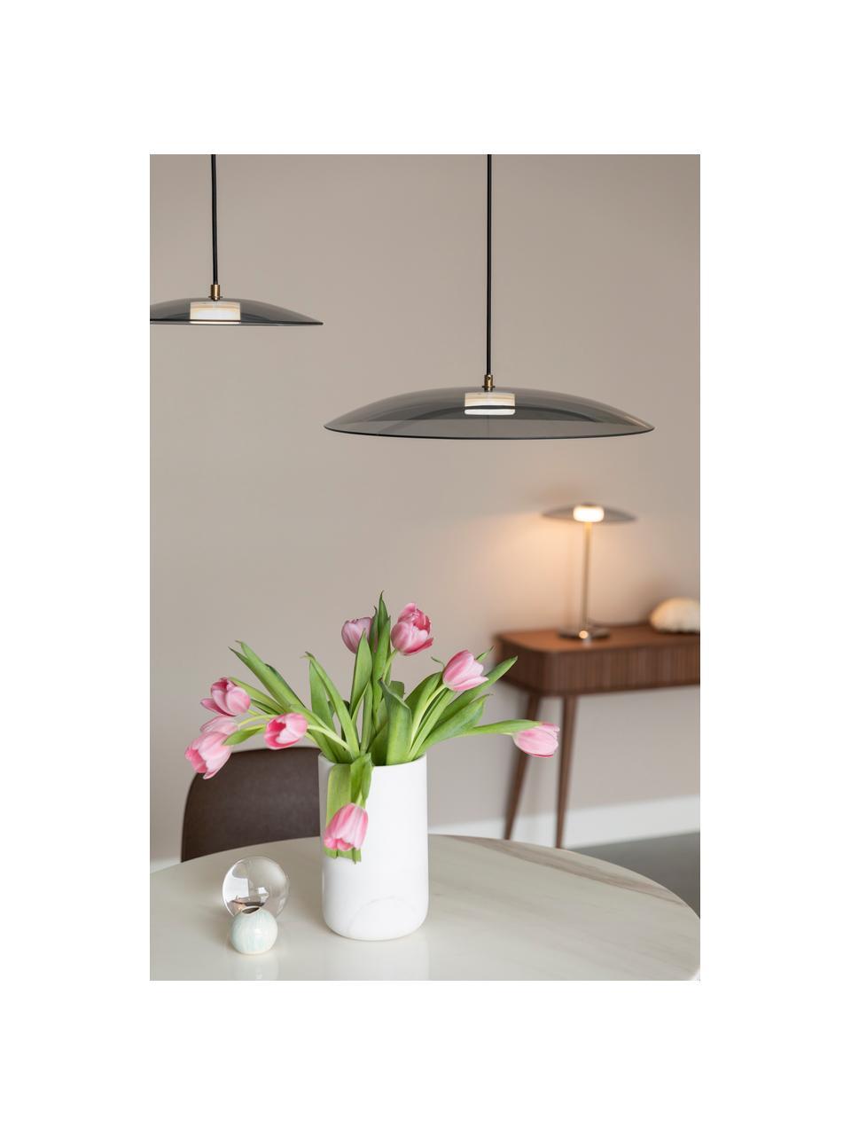 Lampada a sospensione dimmerabile a LED Float, Paralume: vetro, Baldacchino: metallo rivestito, Dorato trasparente, Ø 50 x Alt. 7 cm