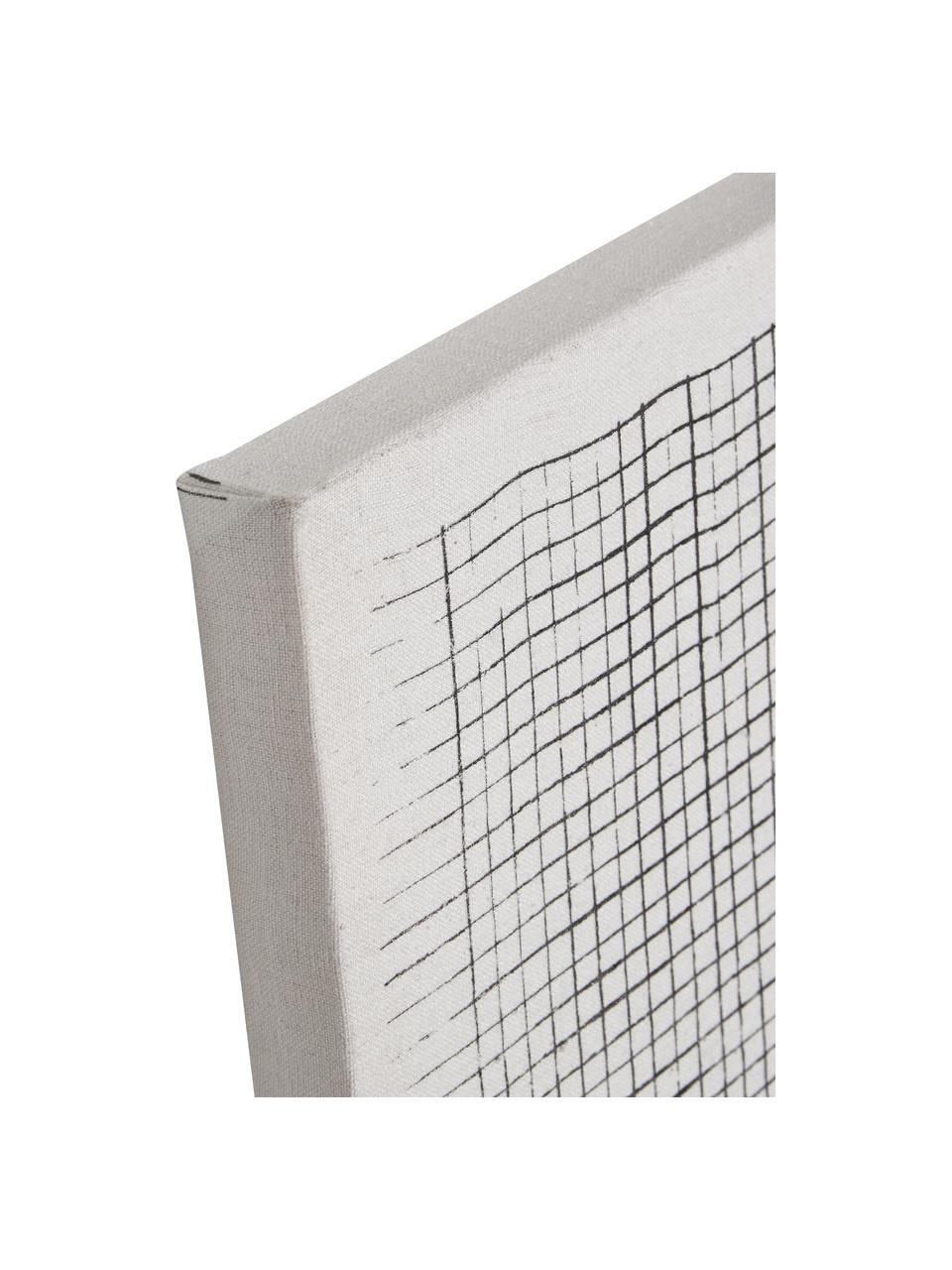 Stampa su tela Prisma, Immagine: tela, Bianco, nero, Larg. 30 x Alt. 40 cm