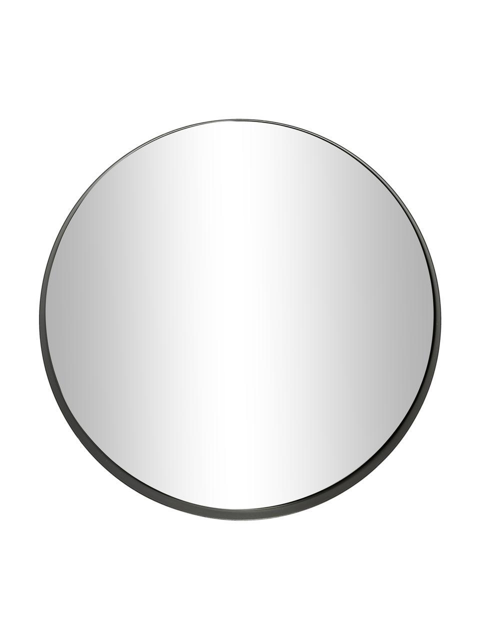 Lustro ścienne Metal, Rama: czarny Szkło lustrzane, Ø 30 cm