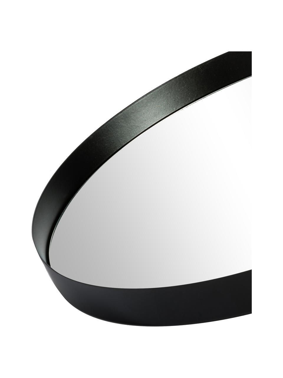 Wandspiegel Metal met zwarte lijst, Lijst: gelakt metaal, met bewust, Lijst: zwart. Spiegelglas, Ø 30 cm