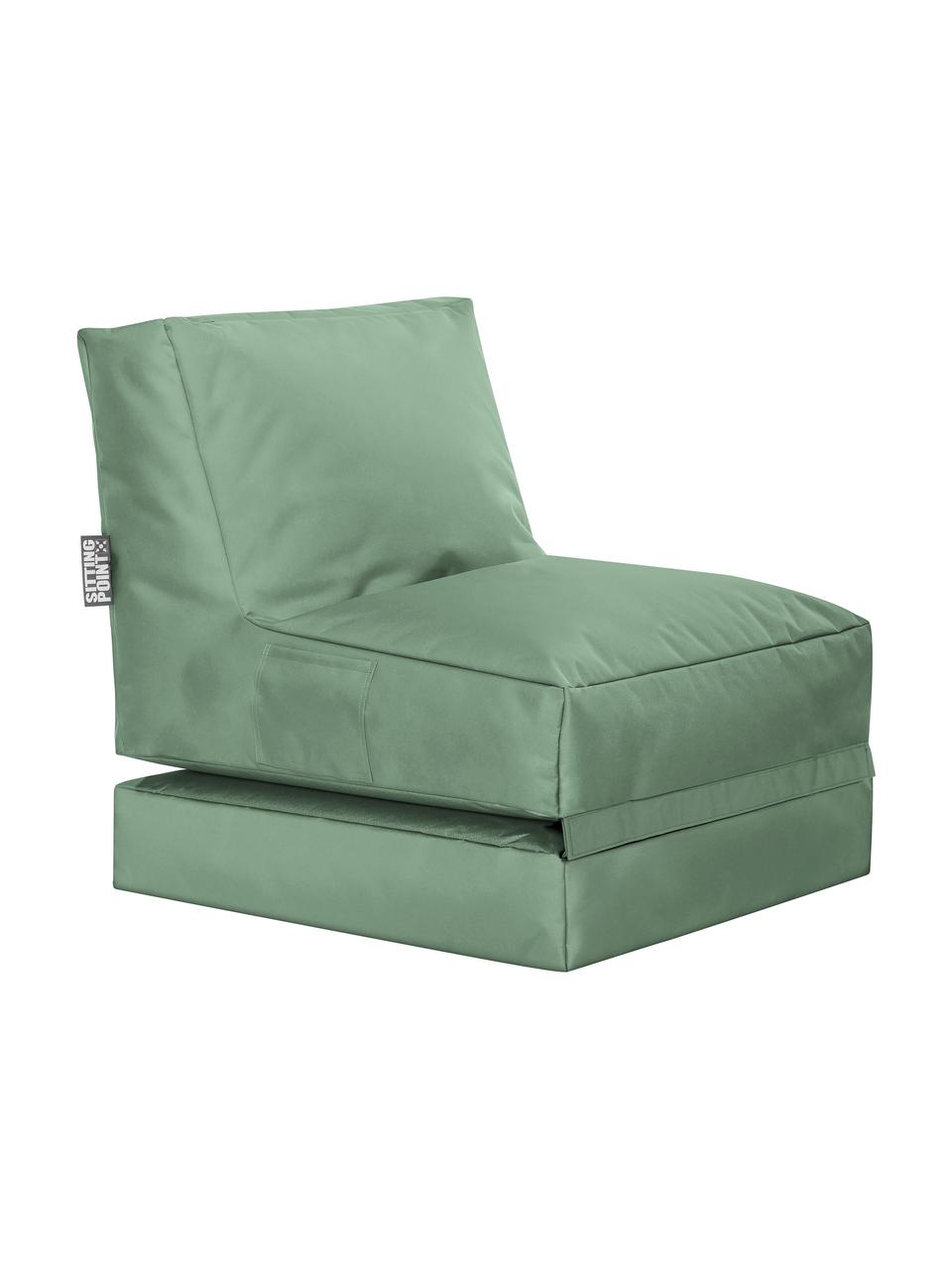 Outdoor loungefauteuil Pop Up met ligfunctie, Bekleding: 100% polyester Binnenzijd, Saliegroen, 70 x 90 cm