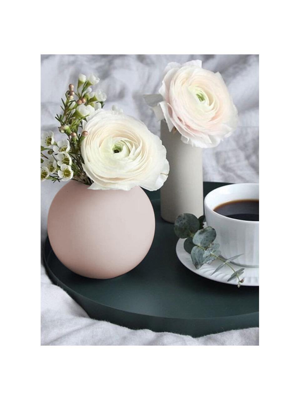 Ręcznie wykonany wazon Ball, Ceramika, Blady różowy, Ø 10 x W 10 cm