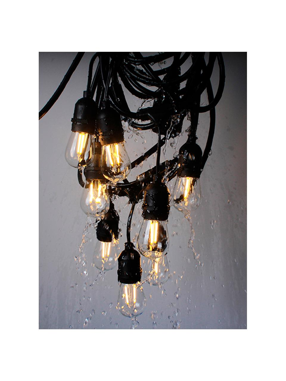 Ghirlanda a LED Jou, 1000 cm, 10 lampioni, Nero, Lung. 1000 cm