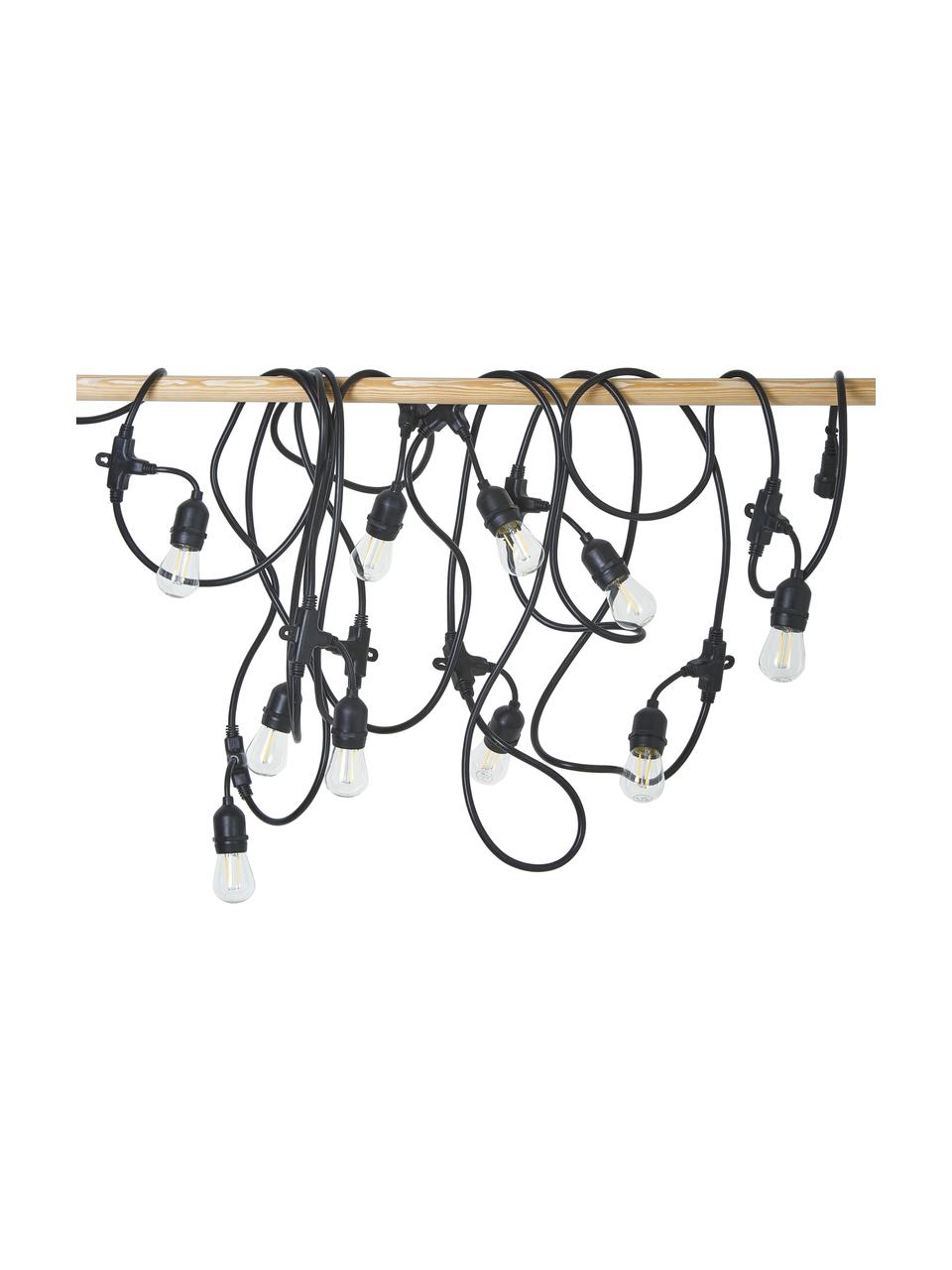 Outdoor LED-Lichterkette Joy, 1000 cm, 10 Lampions, Lampions: Kunststoff, Schwarz, L 1000 cm