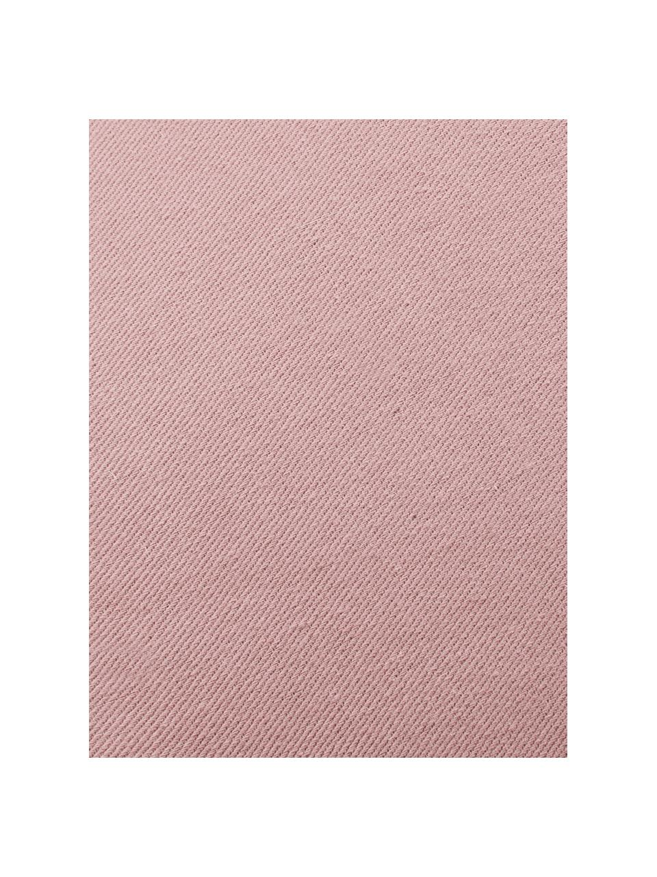 Coussin coquillage velours Shell, Vieux rose