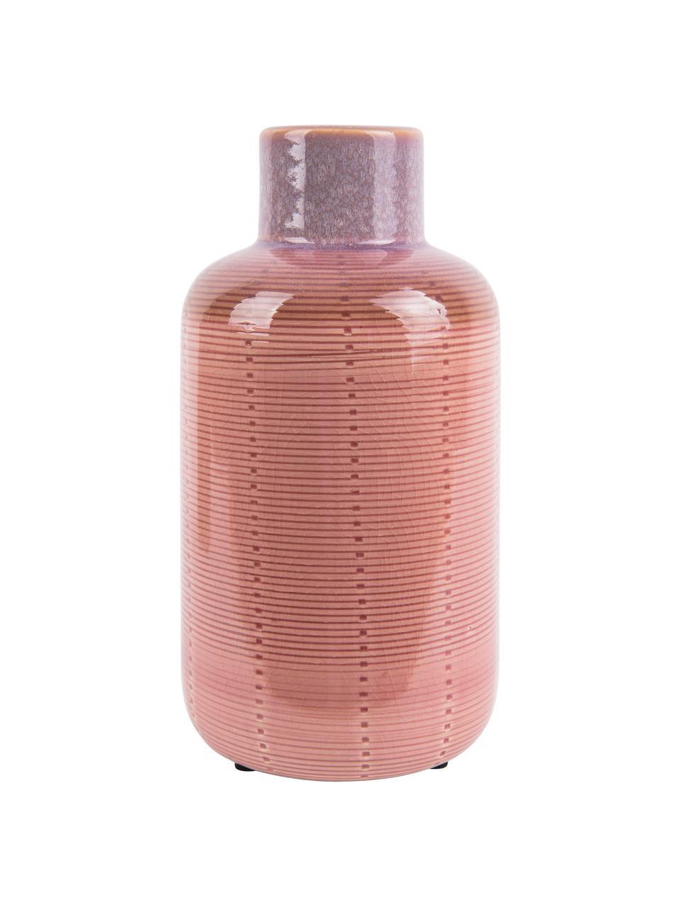 Wazon z ceramiki Bottle, Ceramika, Blady różowy, Ø 12 x W 23 cm