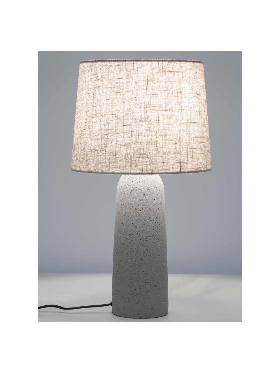 Grande lampe à poser en béton Kaya, Beige