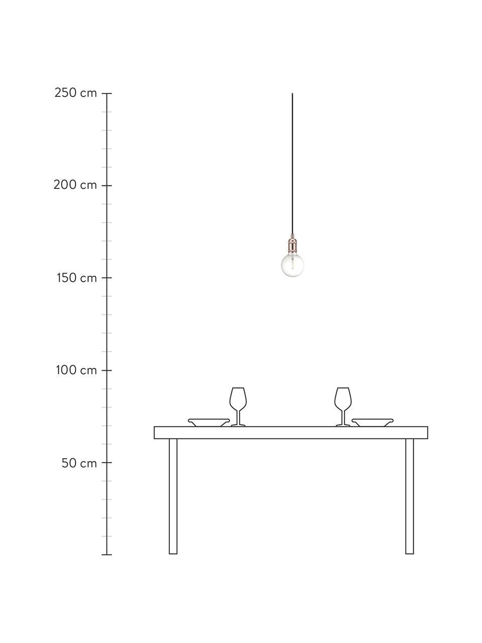 Kleine Pendelleuchte Avra in Kupfer, Baldachin: Kunststoff, Kupfer, Ø 5 x H 10 cm