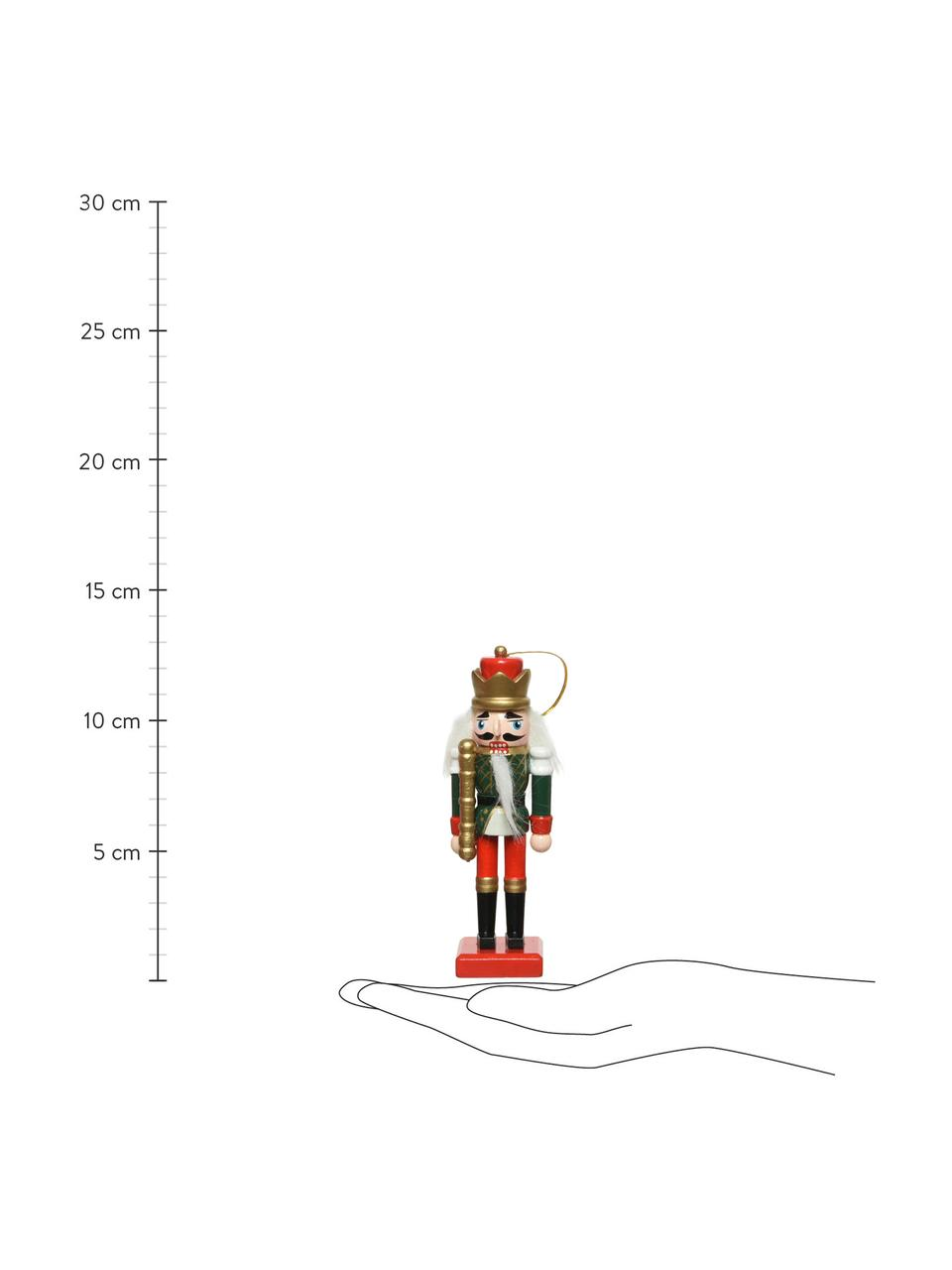 Baumanhänger Nussknacker H 13 cm, 6 Stück, Mehrfarbig, Ø 4 x H 13 cm