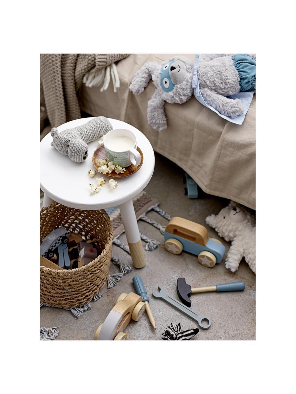 Baby-Strickplaid Tuna aus Wolle, 55% Wolle, 16% Polyester, 15% Acryl,7% Viskose, 7% andere Fasern, Braun, 80 x 100 cm