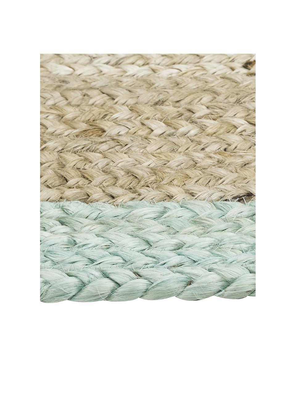 Ręcznie wykonany dywan z juty  Shanta, 100% juta, Juta, miętowozielony, S 160 x D 230 cm (Rozmiar M)