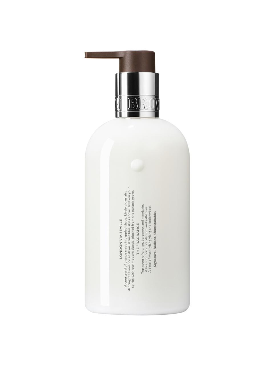 Handcreme Molton (Orange & Bergamotte), Behälter: Recycelbarer Kunststoff, Weiß, Ø 6 x H 15 cm