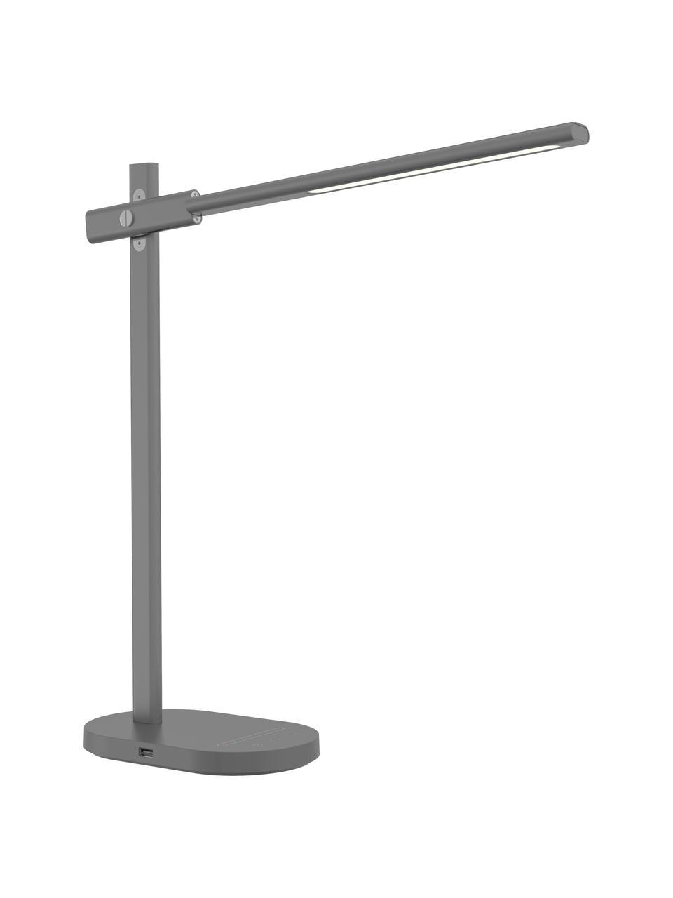 Dimmbare LED-Schreibtischlampe Office mit Touch-Funktion, Lampenfuß: Aluminium, beschichtet, Grau, 20 x 48 cm