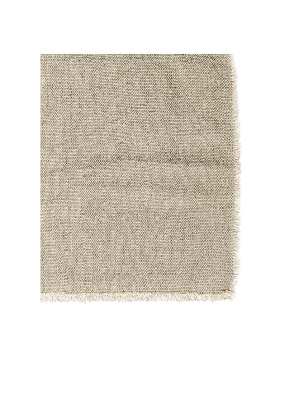 Placemats Edge, 6 stuks, Katoenmix, stonewashed, Greige, 35 x 48 cm