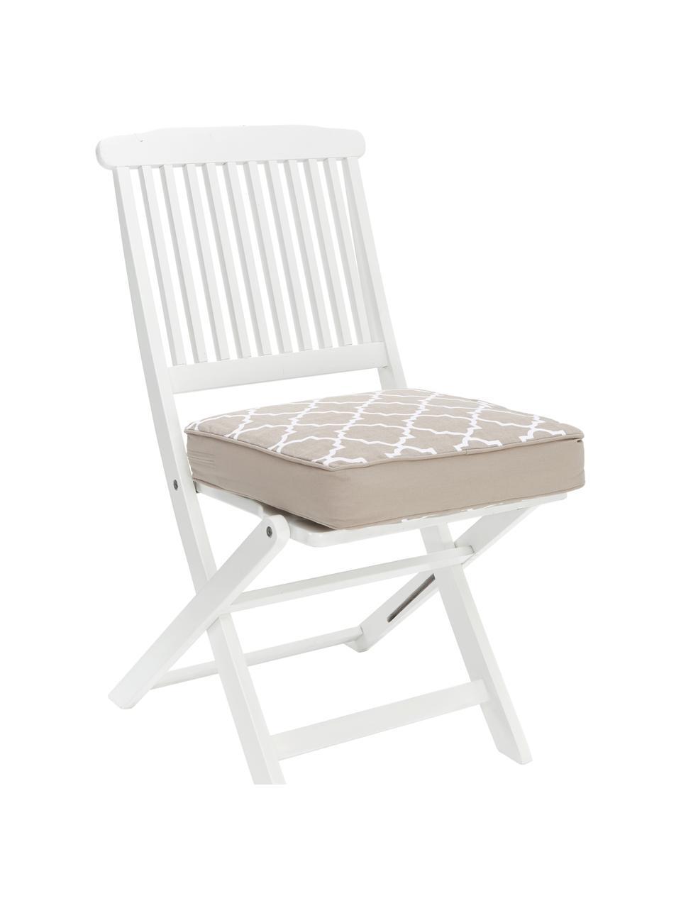 Wysoka poduszka na krzesło Lana, Beżowy, S 40 x D 40 cm