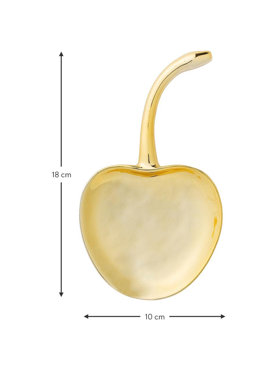 Deko-Schale Cherry, Steingut, Goldfarben, B 18 x T 10 cm