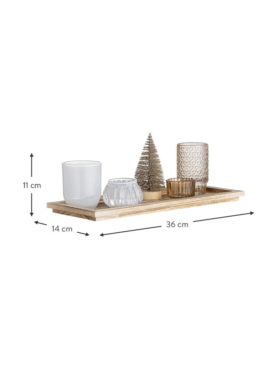 Komplet świeczników na podgrzewacze Otine, 6 elem., Szkło, Odcienie złotego, beżowy, biały, Komplet z różnymi rozmiarami